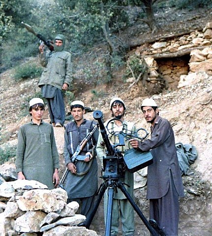 Hezb-i Islami Khalis fighters in the Sultan Valley of Kunar Province, 1987.