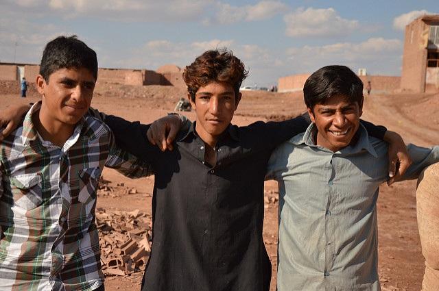 Afghan refugees in Iran.