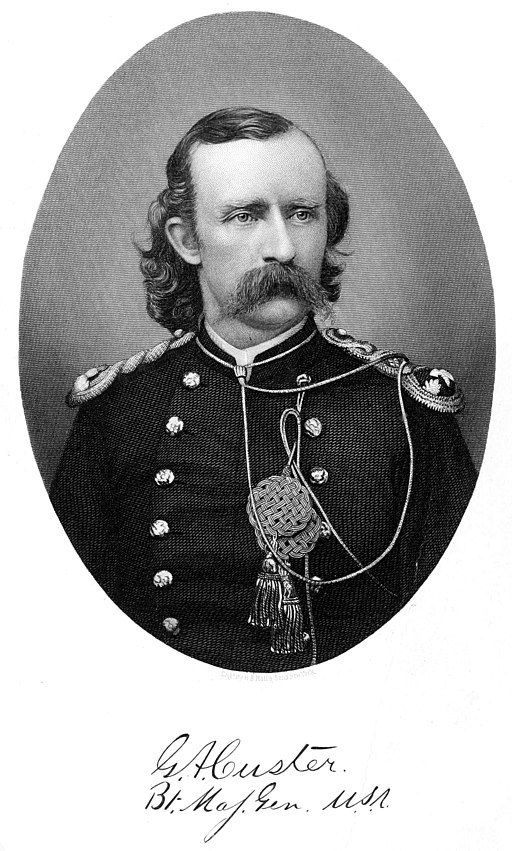 Major-General George A. Custer. By  Elizabeth Bacon Custer, 1877. Public domain.